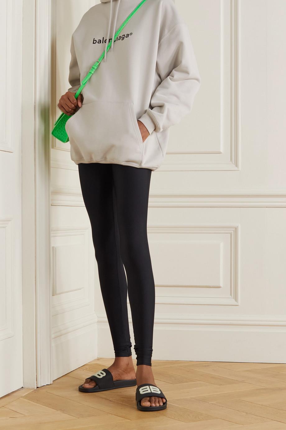 Balenciaga Sweat à capuche oversize en jersey de coton imprimé