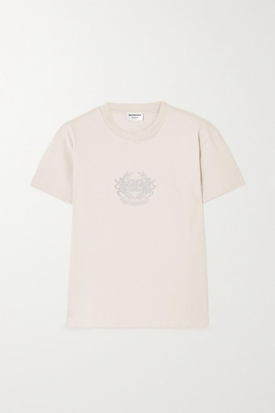 Balenciaga T-shirt en jersey de coton à broderies Lion's Laurel