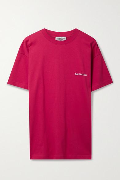 Balenciaga T-shirts PRINTED COTTON-JERSEY T-SHIRT