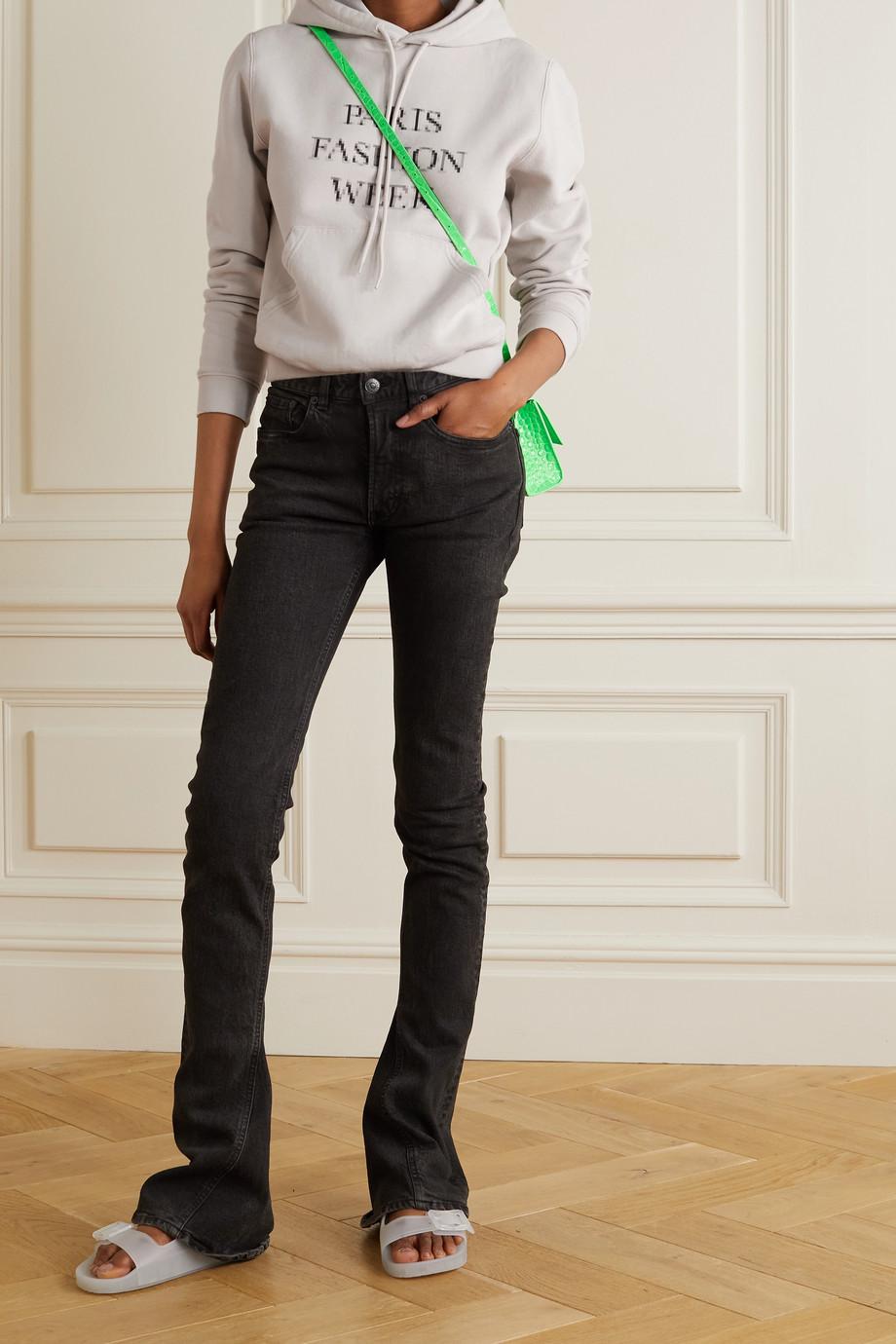 Balenciaga Sweat à capuche raccourci en jersey de coton imprimé