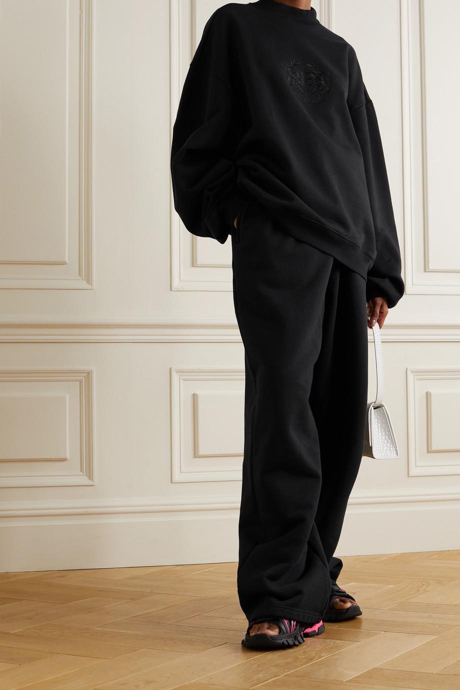 Balenciaga Sweat oversize en jersey de coton à broderies Lion's Laurel