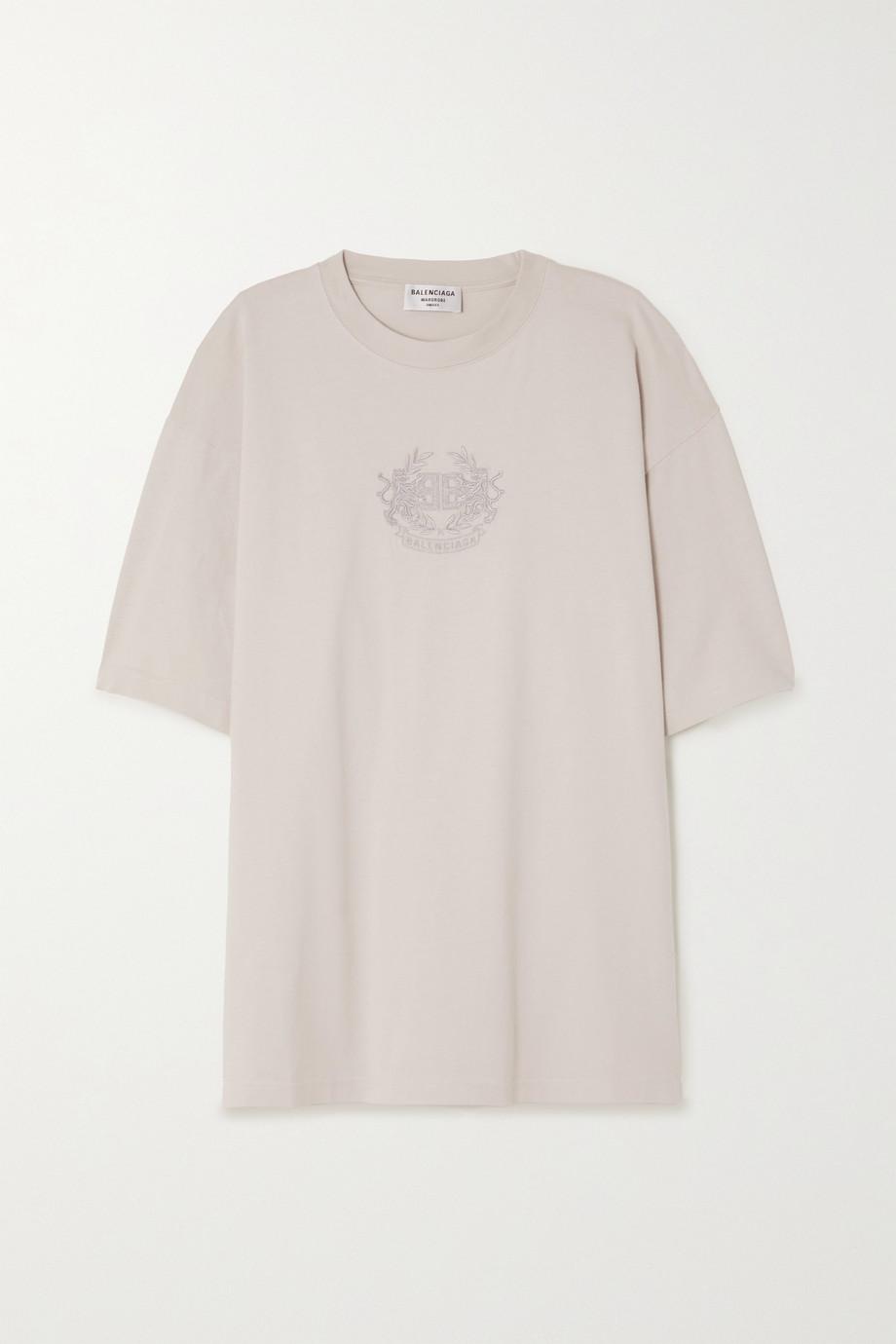 Balenciaga T-shirt oversize en jersey de coton à broderies Lion's Laurel
