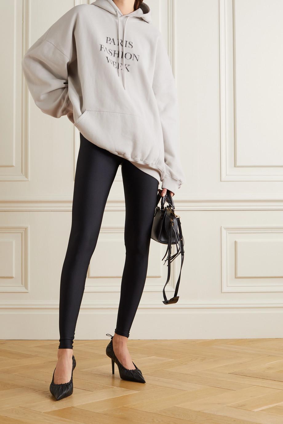 Balenciaga Sweat à capuche en jersey de coton imprimé