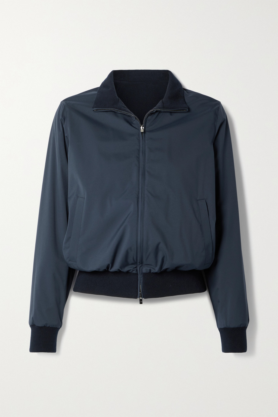 Loro Piana Reversible shell and cashmere bomber jacket