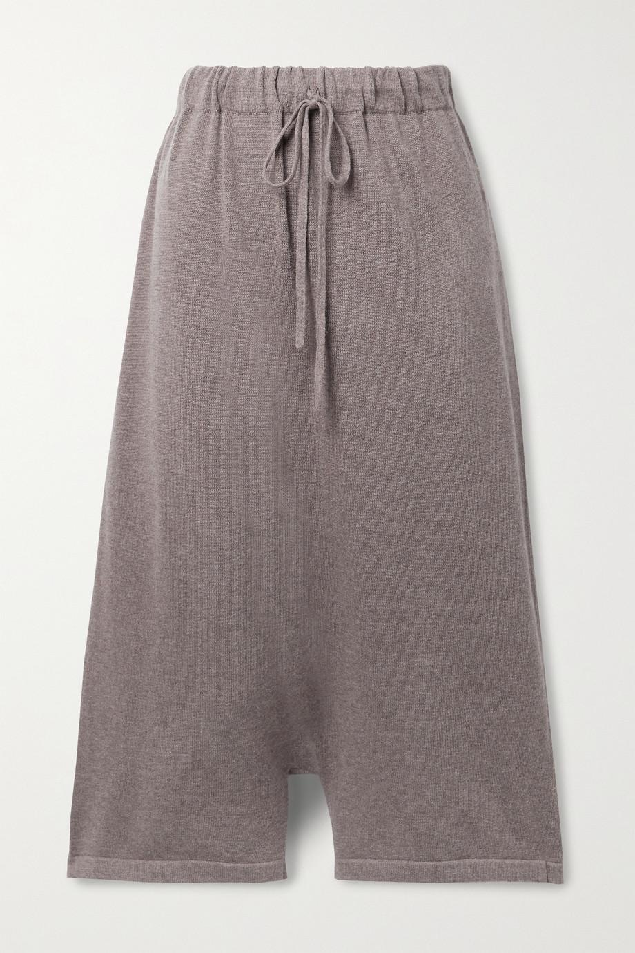 Lauren Manoogian New Playa cropped Pima cotton and alpaca-blend wide-leg pants