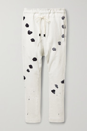 Bassike Printed French organic cotton-terry track pants