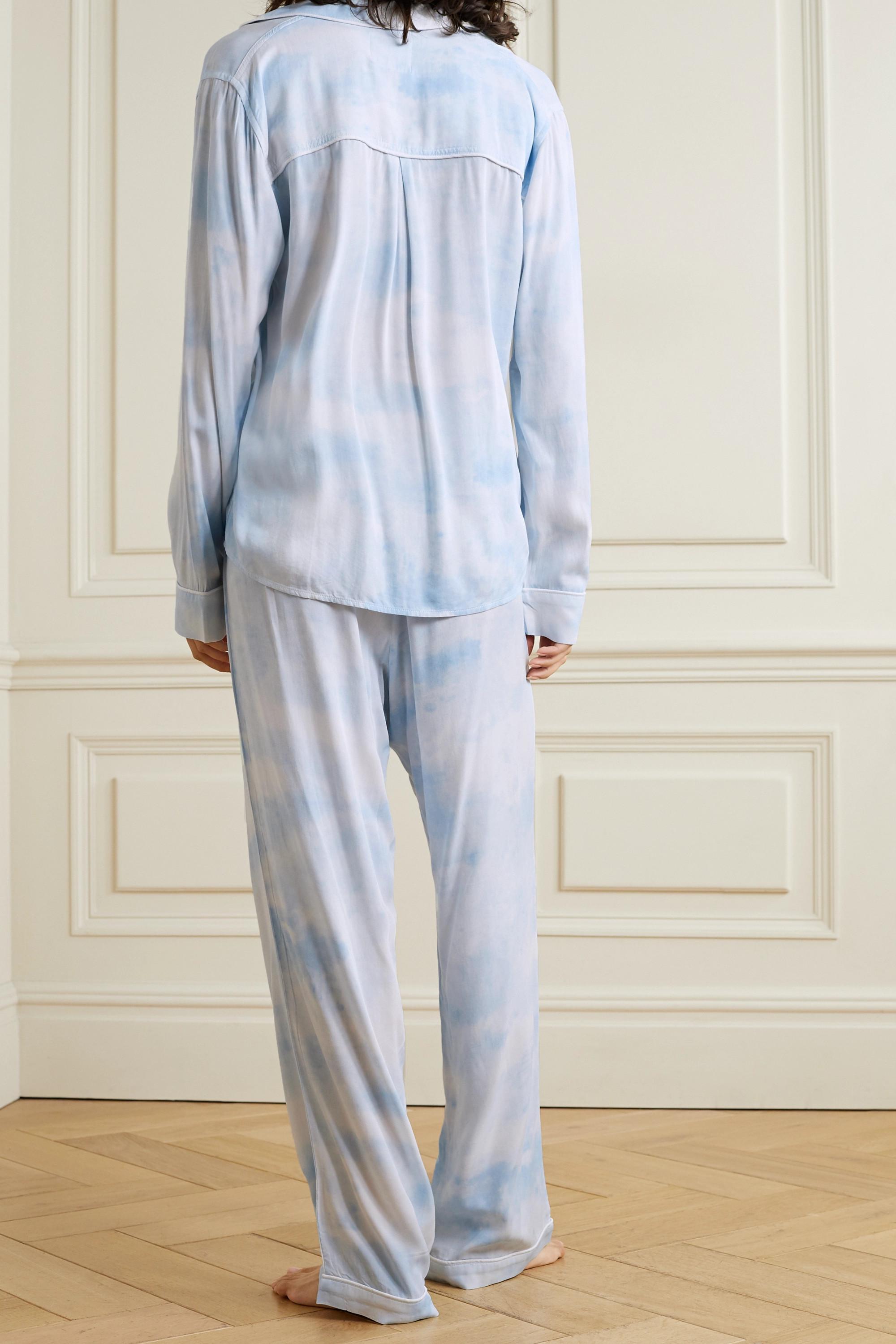 Rails Clara piped printed twill pajama set