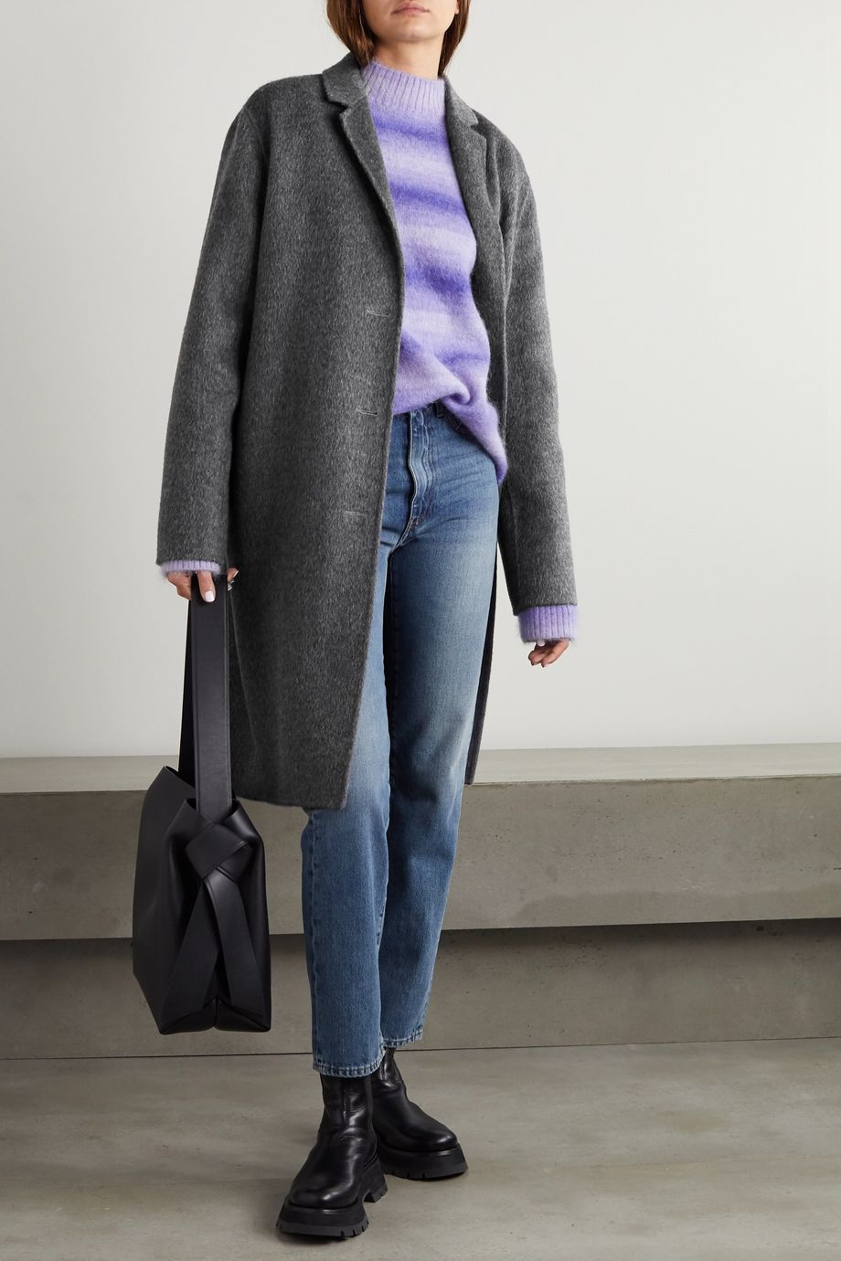 Acne Studios Brushed wool and alpaca-blend coat