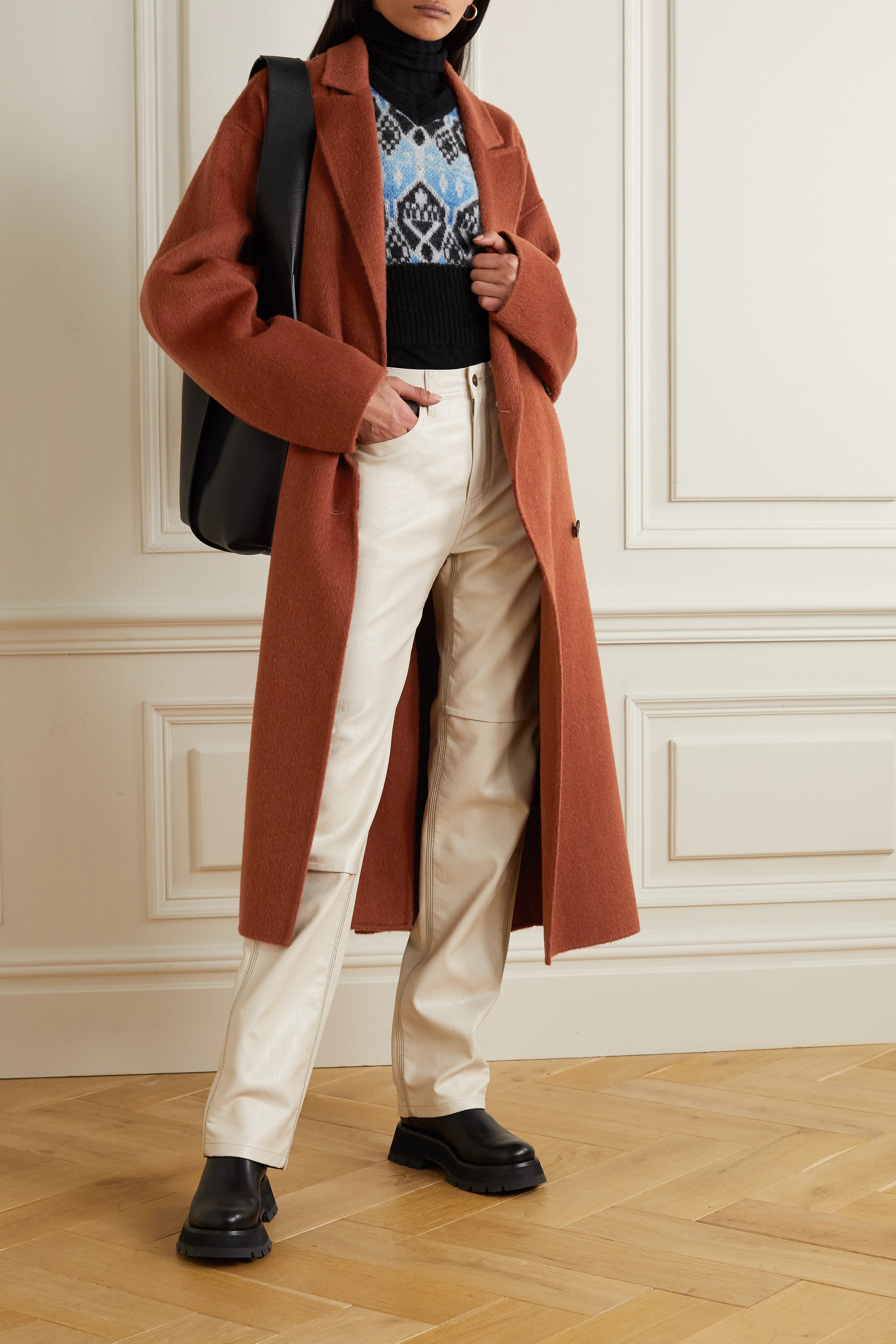 Acne Studios Belted double-breasted wool coat