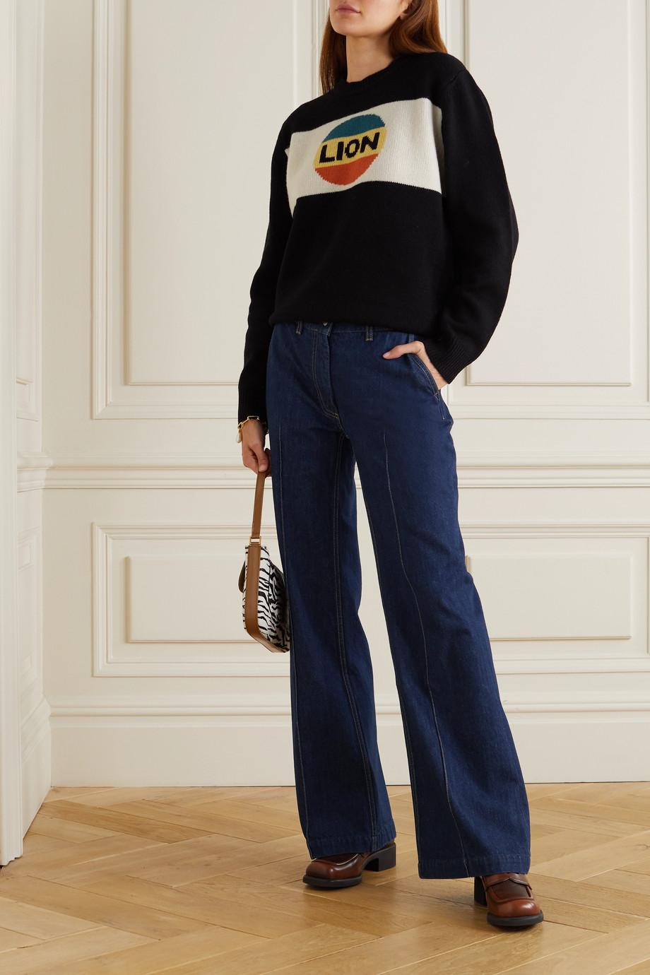 Bella Freud David hoch sitzende Jeans mit weitem Bein aus Bio-Denim