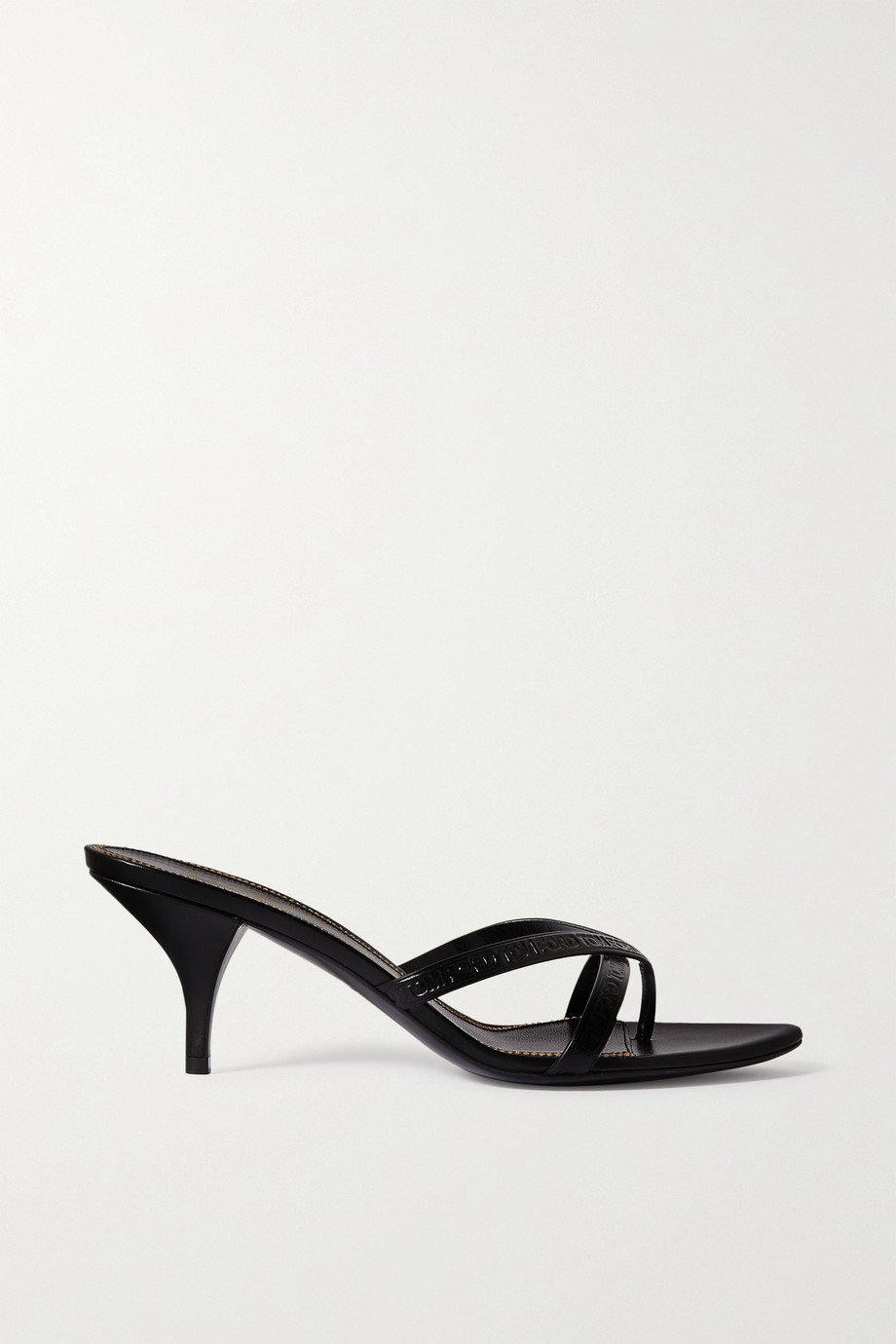 TOM FORD Logo-debossed leather mules