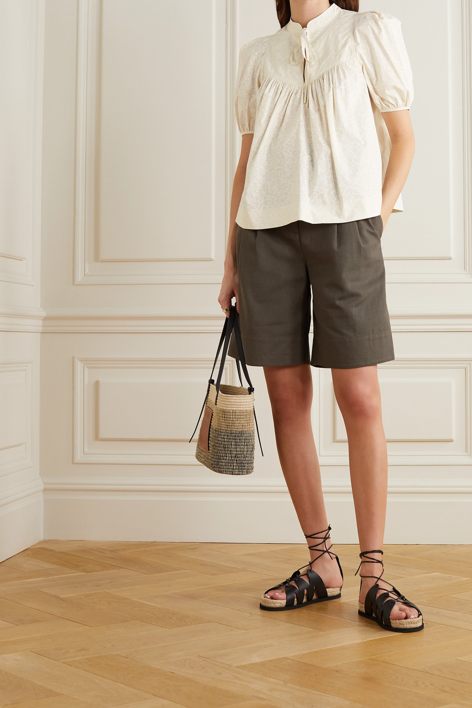 See By Chloé Floral-print cotton-poplin blouse