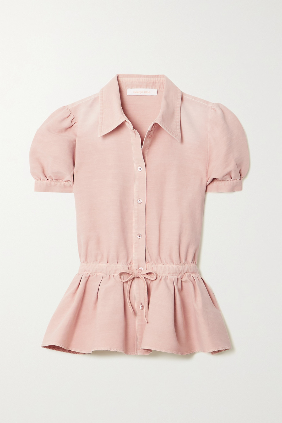 See By Chloé Peplum cotton blouse