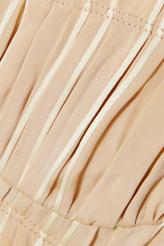 Khaite Brassière en jacquard plissé à rayures Indira