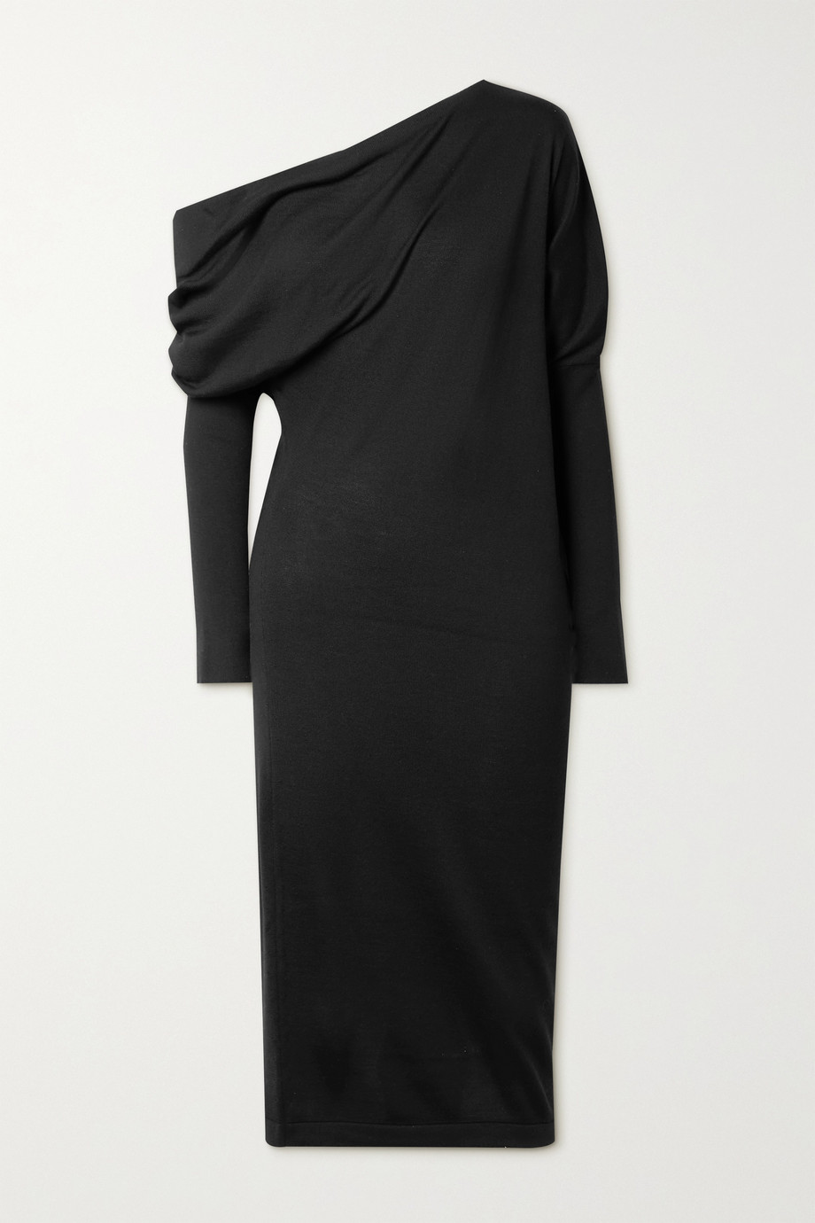 TOM FORD One-shoulder cashmere and silk-blend dress
