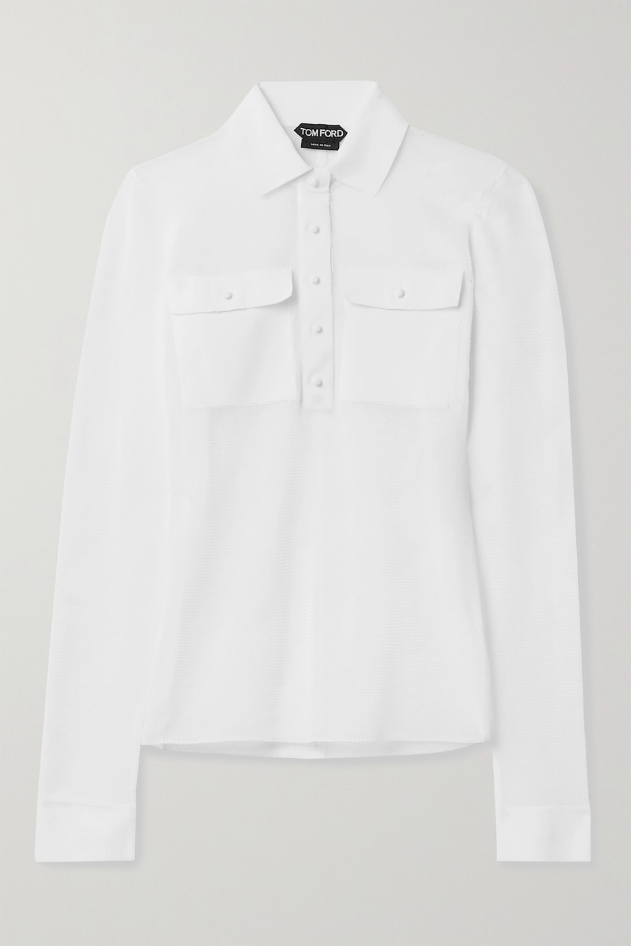 TOM FORD Cotton-blend polo shirt