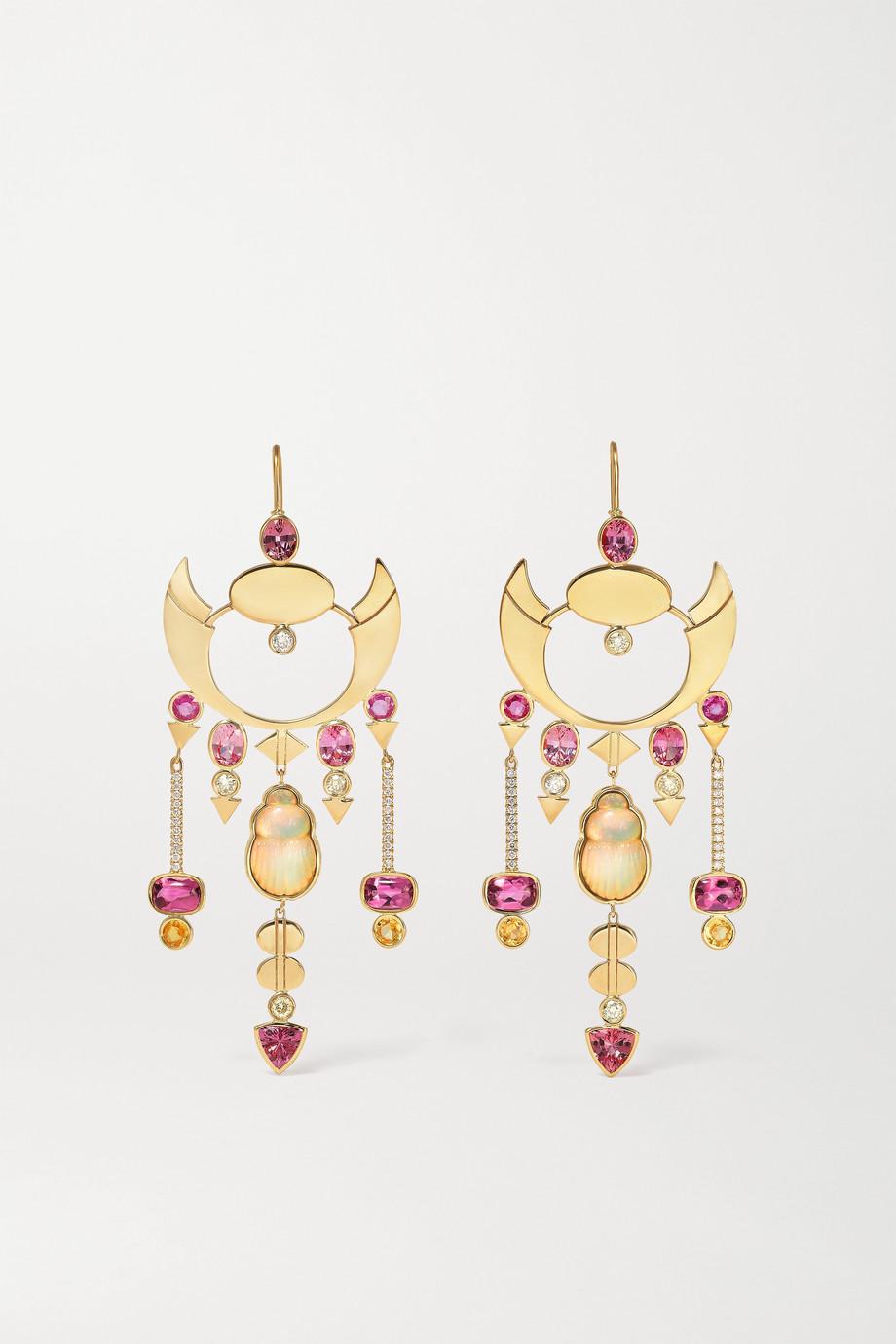 Lito Melissa 18-karat gold multi-stone earrings
