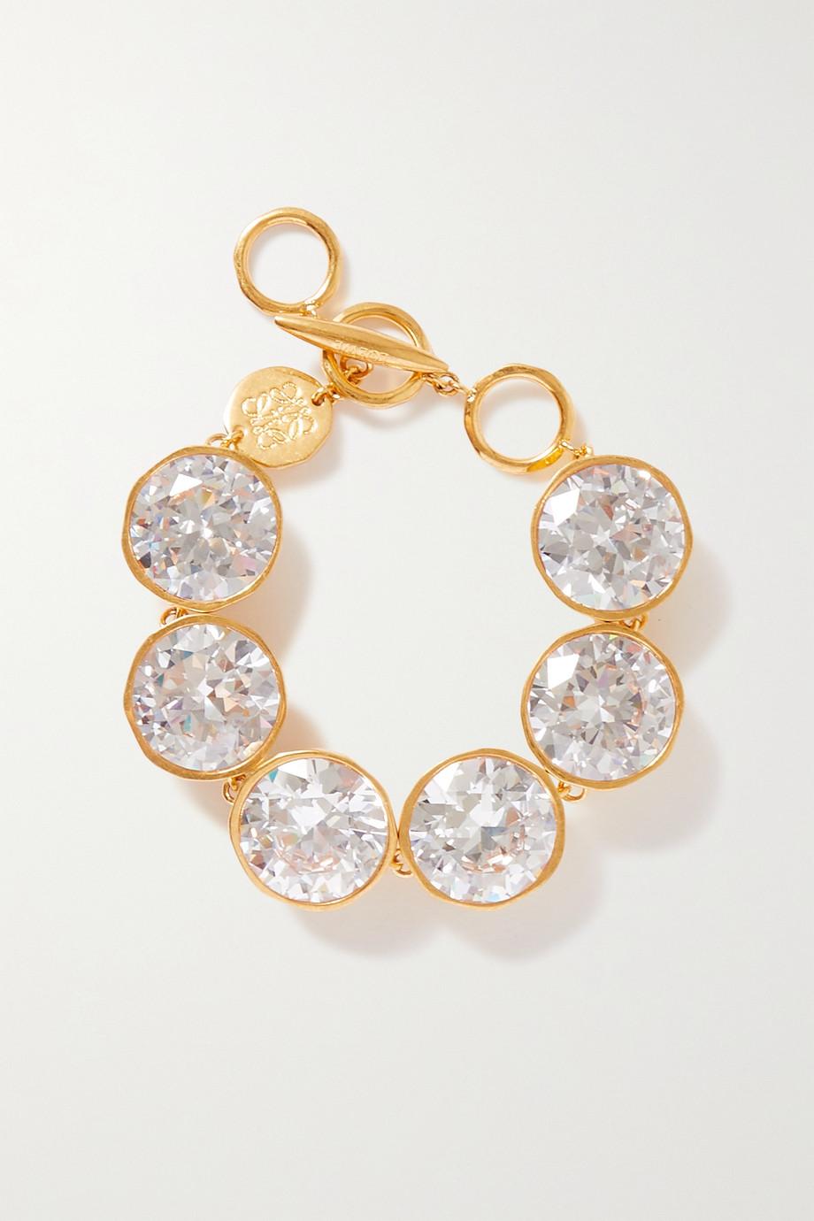 Loewe Sphere gold-tone crystal bracelet