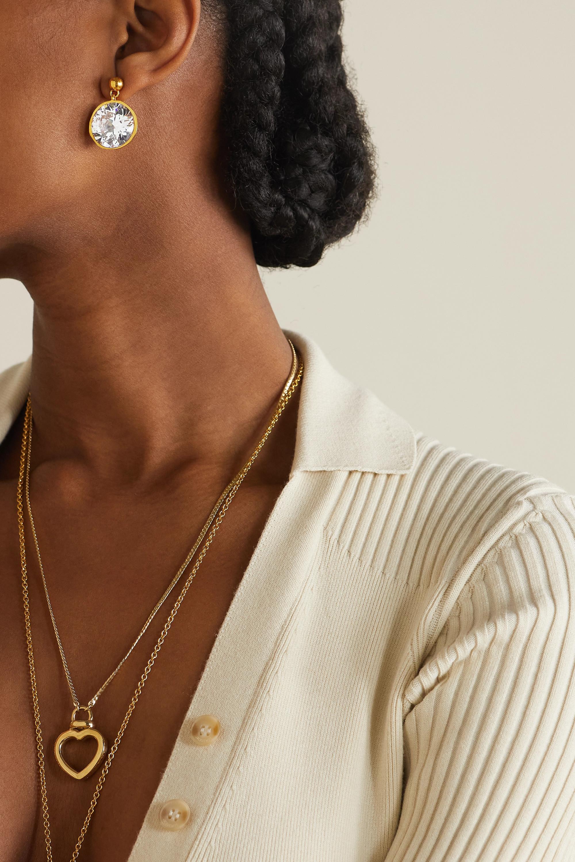 Loewe Sphere gold-tone crystal earrings