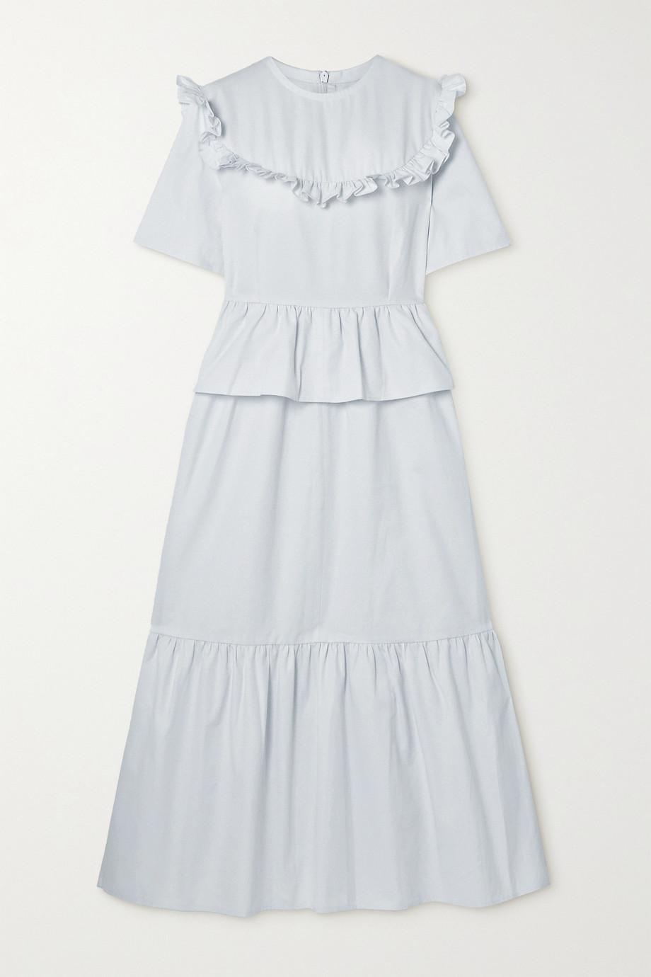 Àcheval Pampa + NET SUSTAIN Victoria tiered ruffled stretch-cotton twill dress
