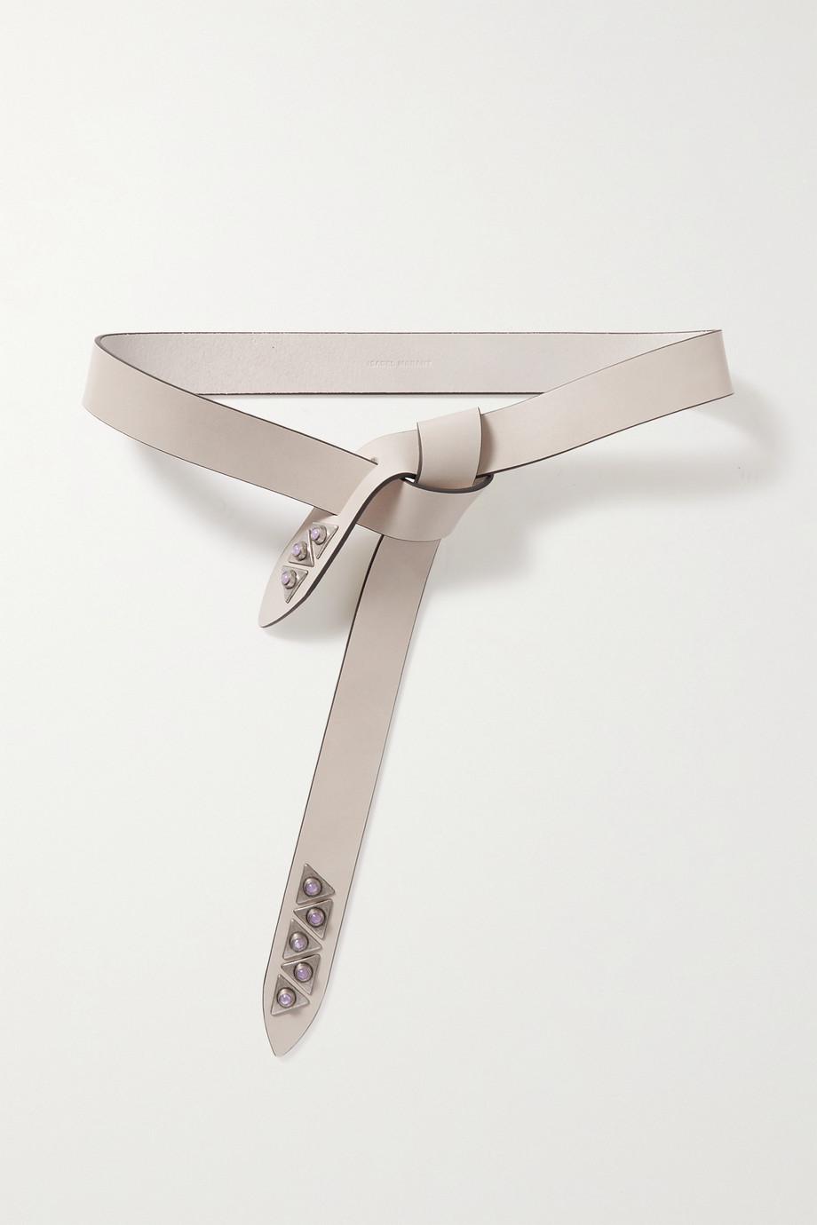 Isabel Marant Letri embellished leather waist belt