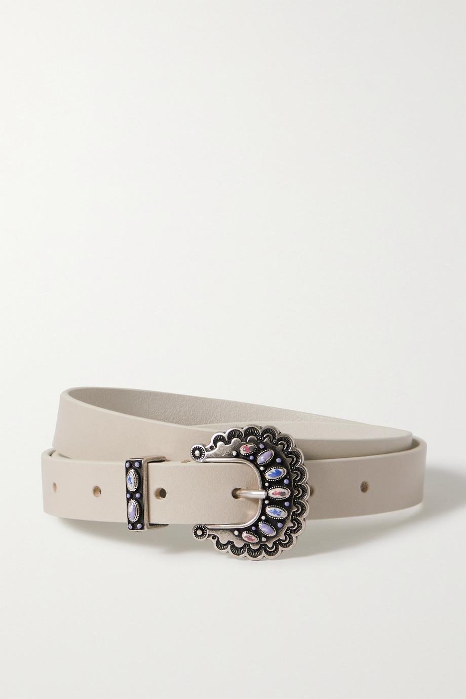 Isabel Marant Temoia embellished leather belt
