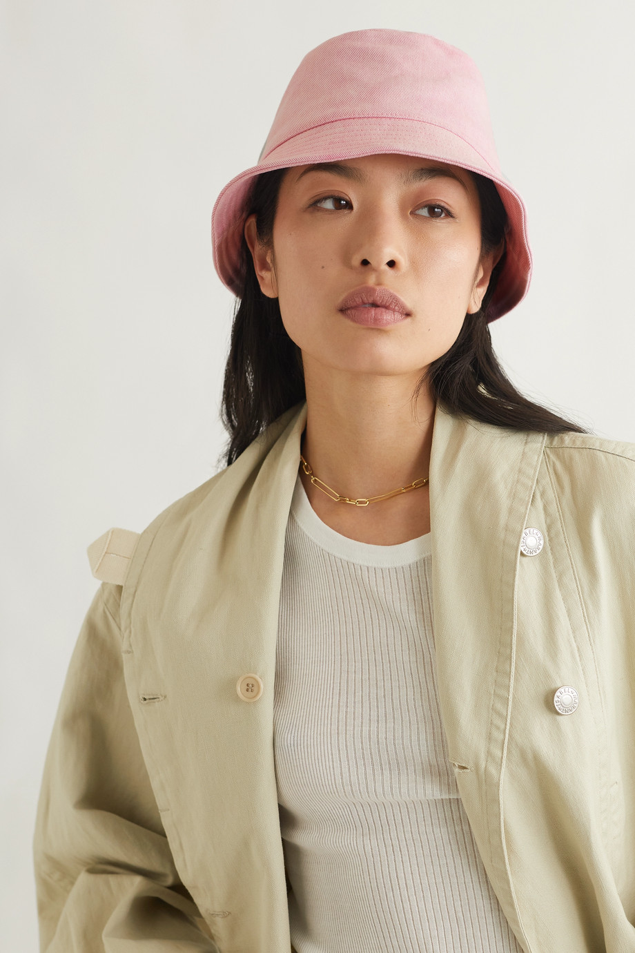 Isabel Marant Haley embroidered stretch-cotton twill bucket hat