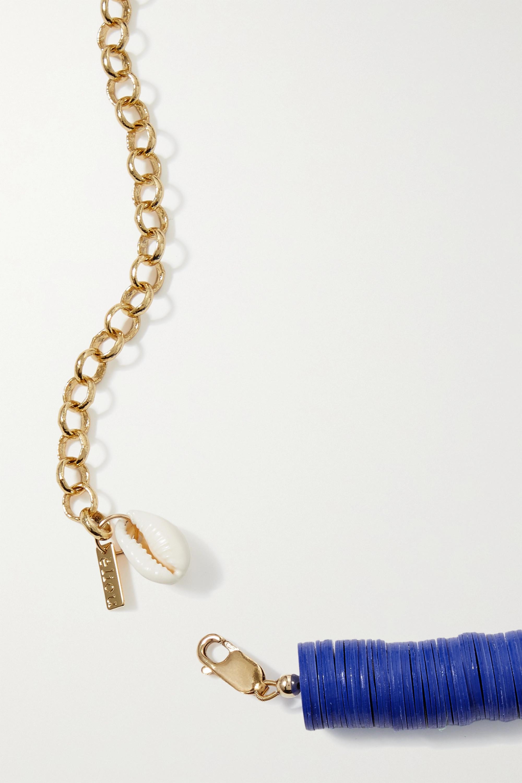 éliou Collier en plaqué or, perle et vinyle recyclé Rhye