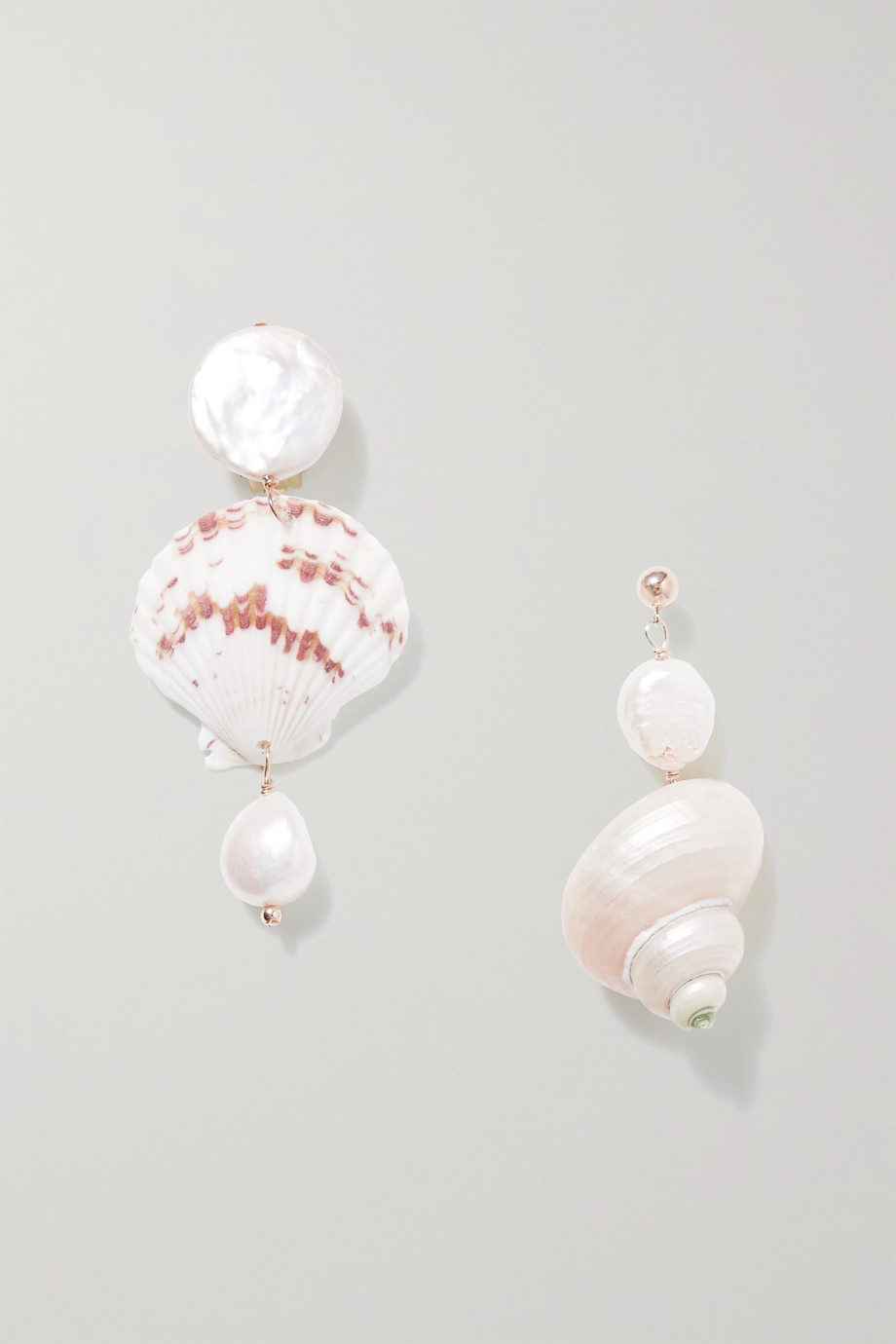 éliou Kairi gold-plated, shell and pearl earrings