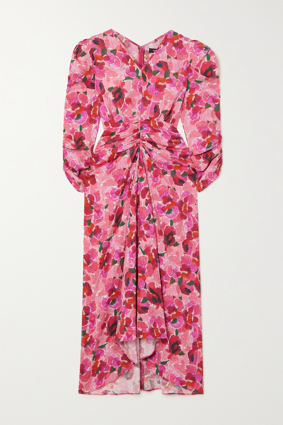 Isabel Marant Albisd ruched floral-print jacquard midi dress