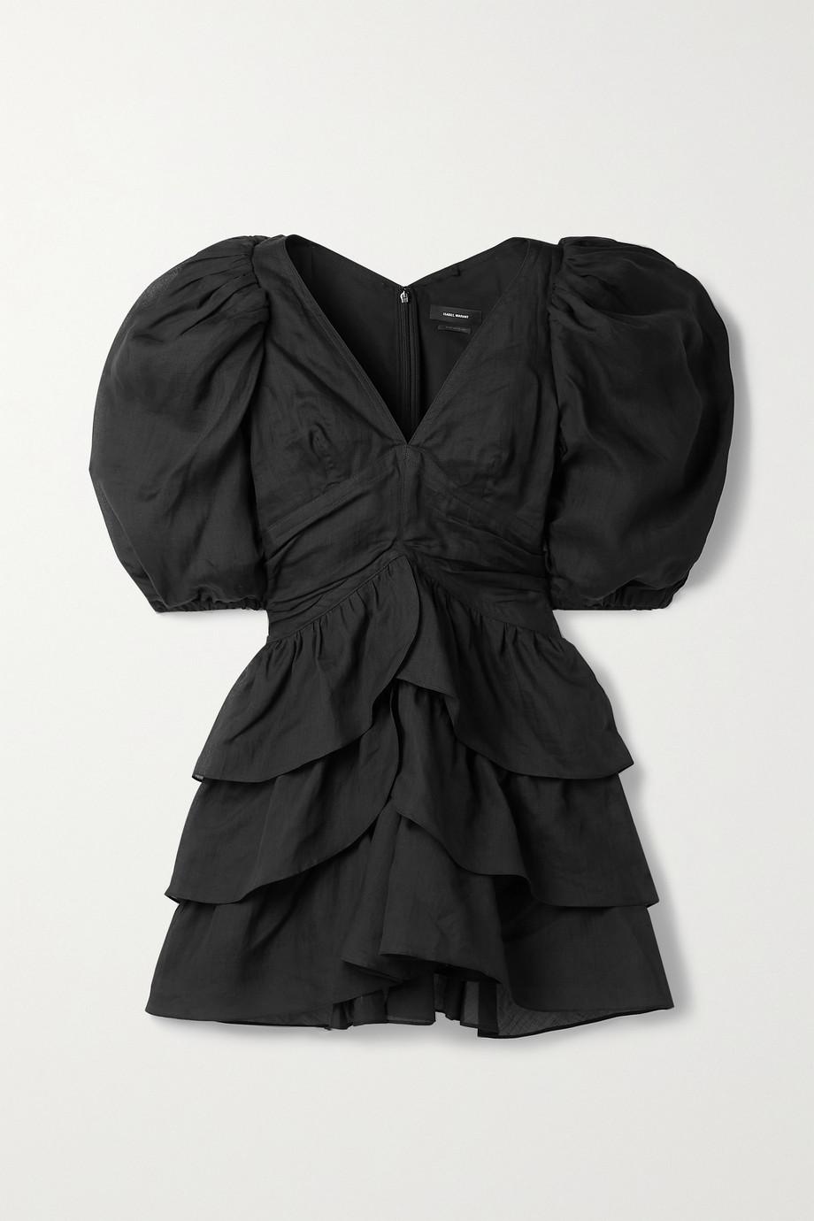 Isabel Marant Jaekia tiered ramie mini dress
