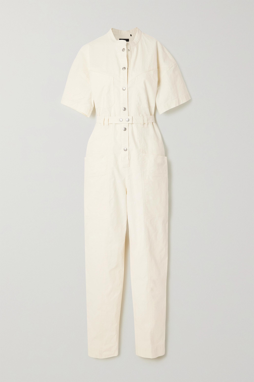 Isabel Marant Combi-pantalon en ripstop de lin mélangé à ceinture Etundra