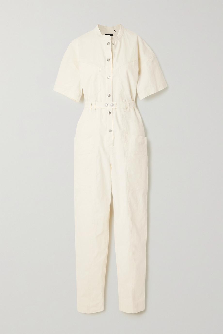 Isabel Marant Etundra belted linen-blend ripstop jumpsuit