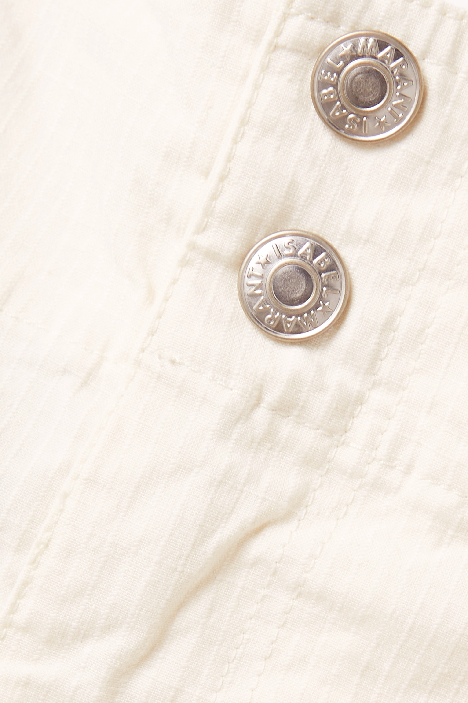 Isabel Marant Effie linen-blend ripstop shorts