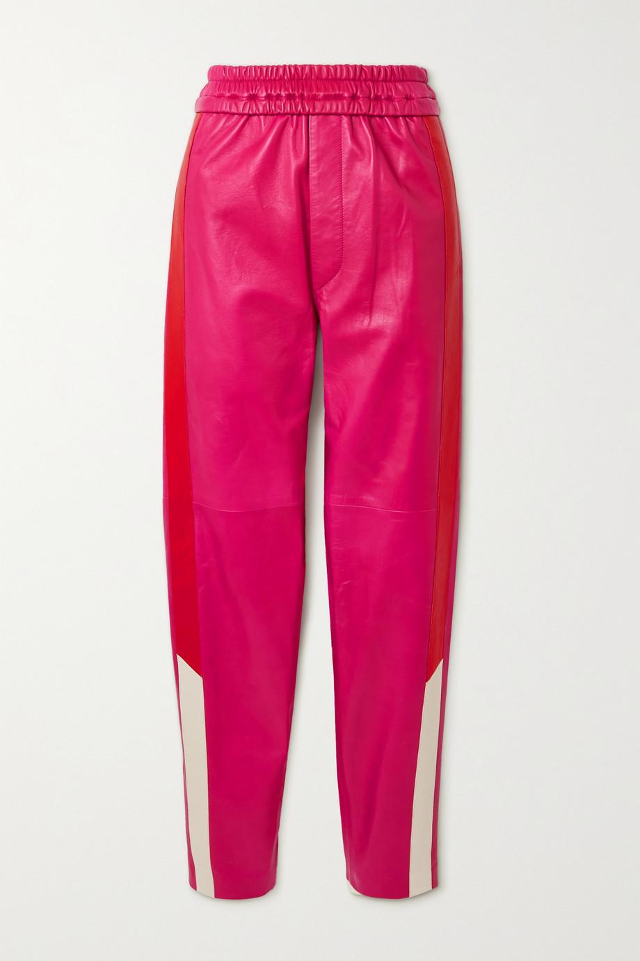 Isabel Marant Ailenoba striped leather track pants