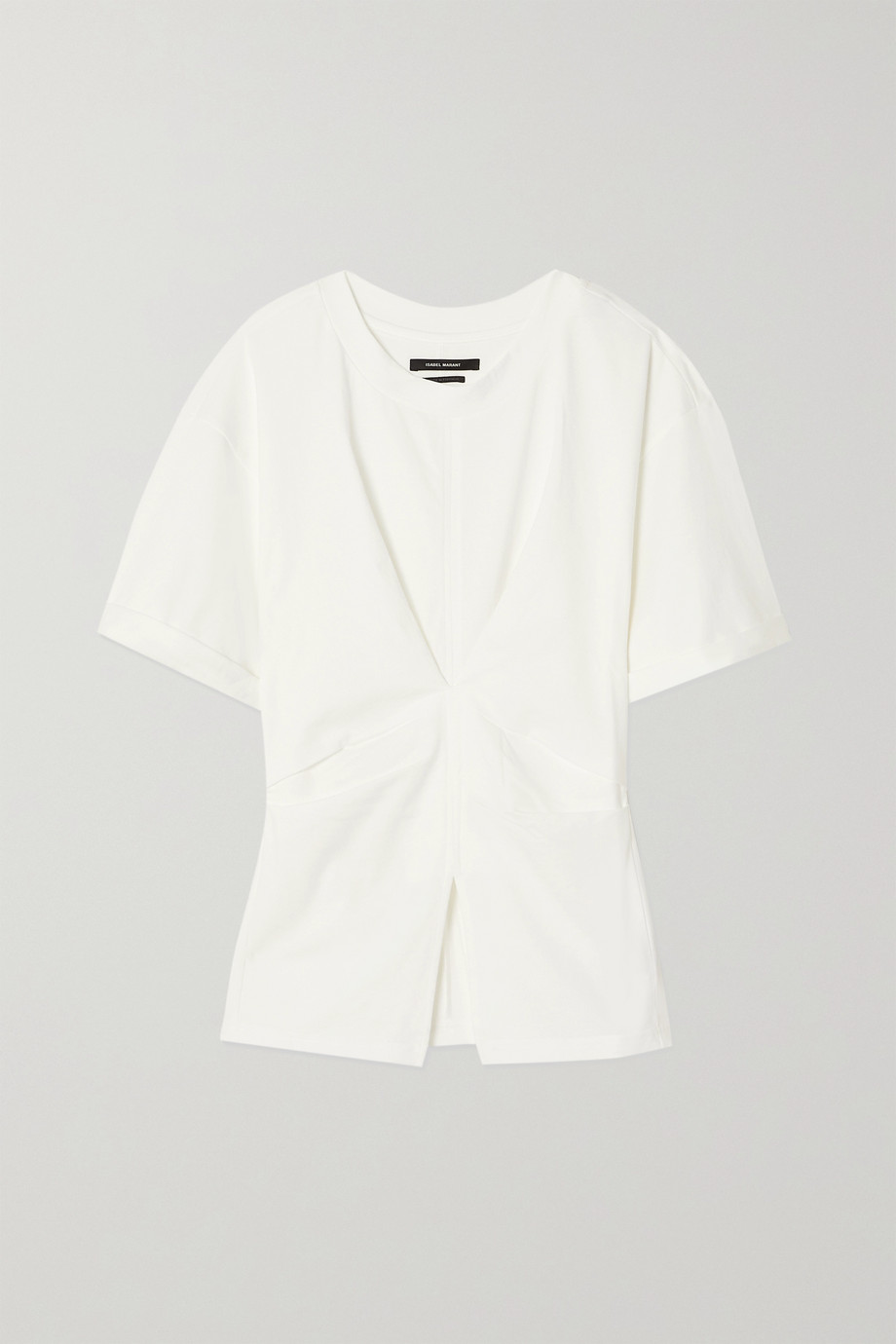Isabel Marant Soyona ruched cotton-jersey T-shirt