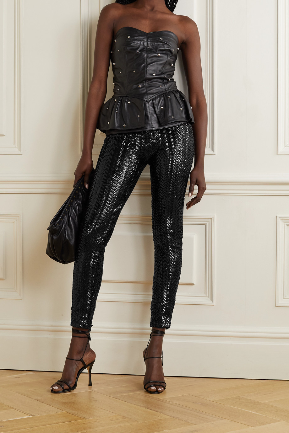 Isabel Marant Todiz sequined mesh leggings