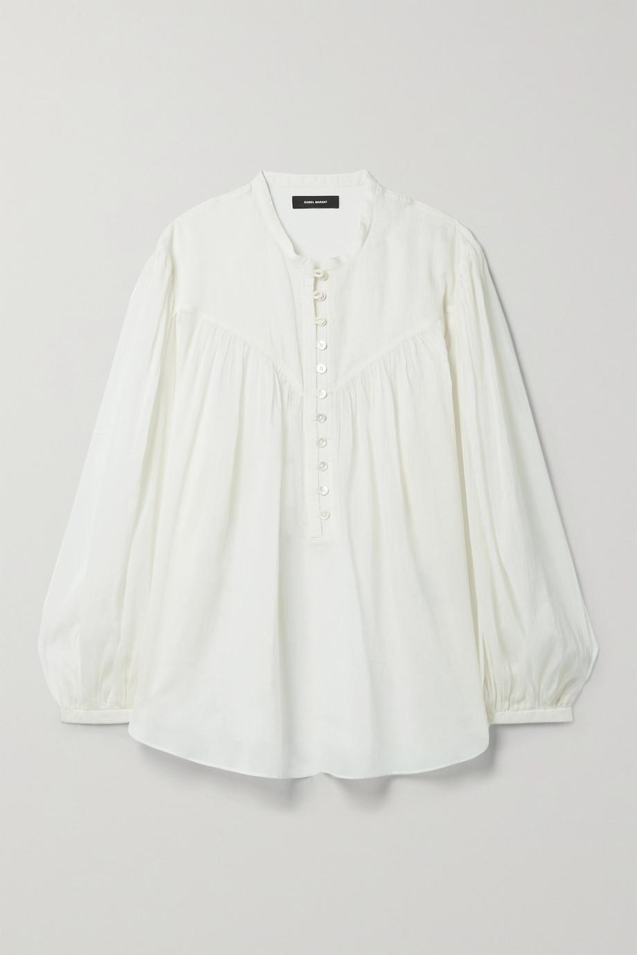 Isabel Marant Kiledia cotton and silk-blend crepon blouse