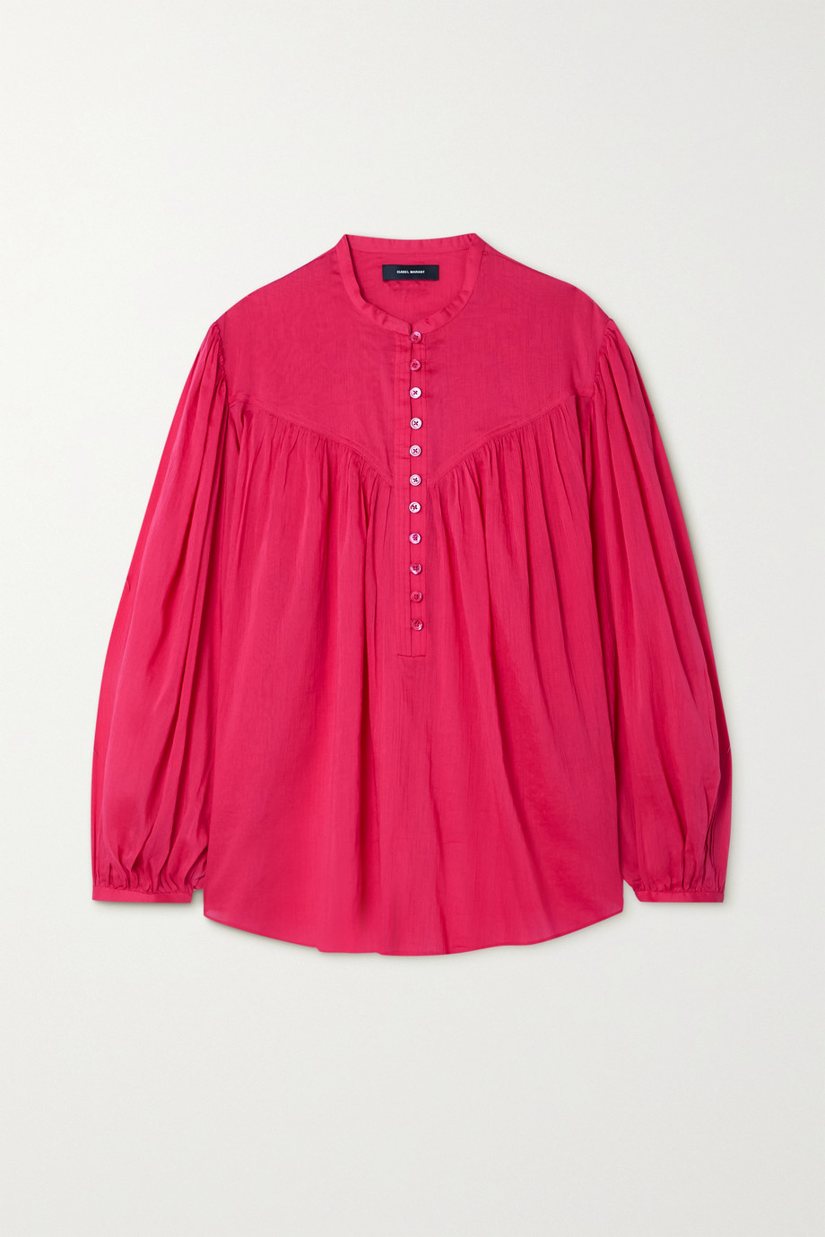 Isabel Marant Kiledia cotton and silk-blend crepon blouse