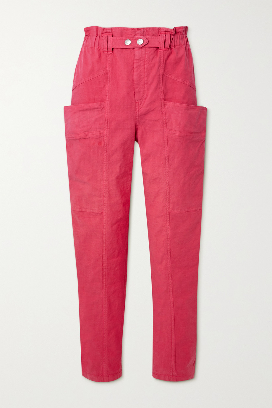 Isabel Marant Enucie cropped linen-blend ripstop tapered pants