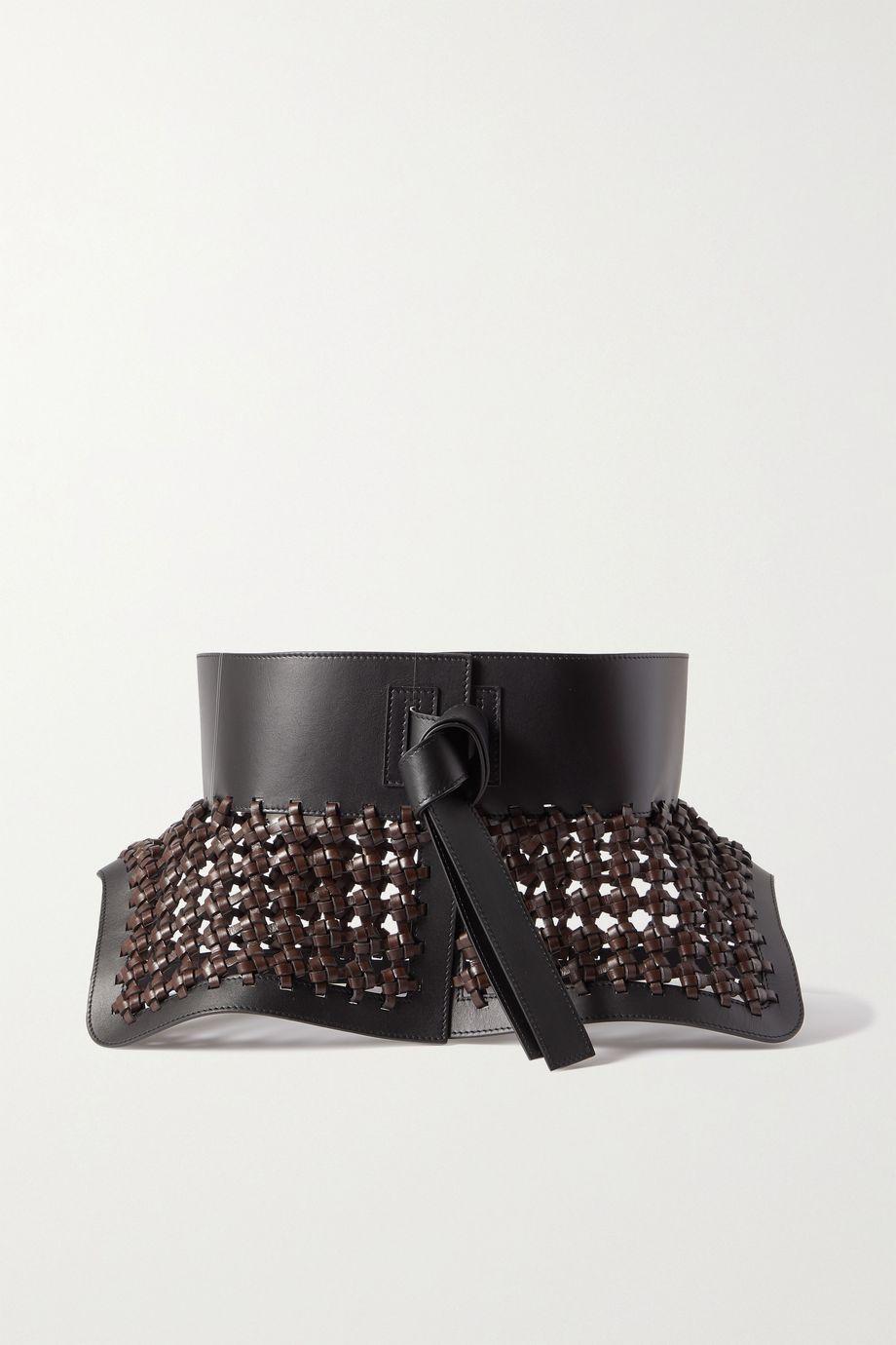 Loewe Obi woven leather belt