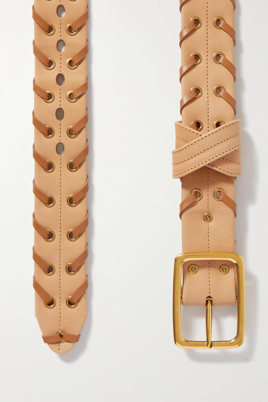 Chloé Zweifarbiger Ledergürtel mit Verzierungen