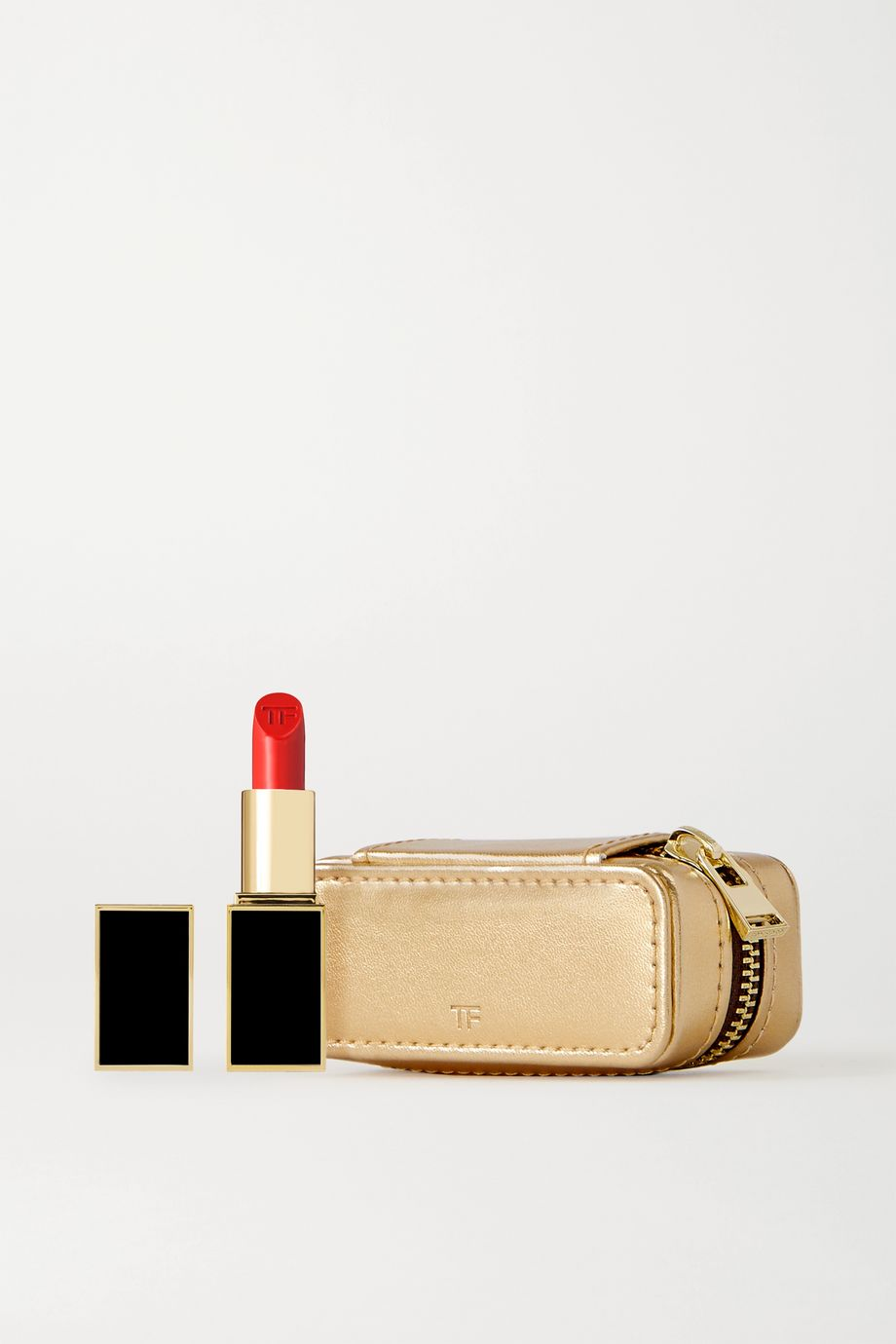 TOM FORD BEAUTY Lip Color Matte and Metallic Leather Case Set - Flame