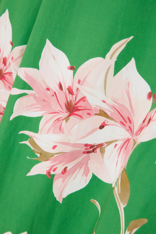 Valentino Maxi-Hemdblusenkleid aus Baumwollpopeline mit Blumenprint