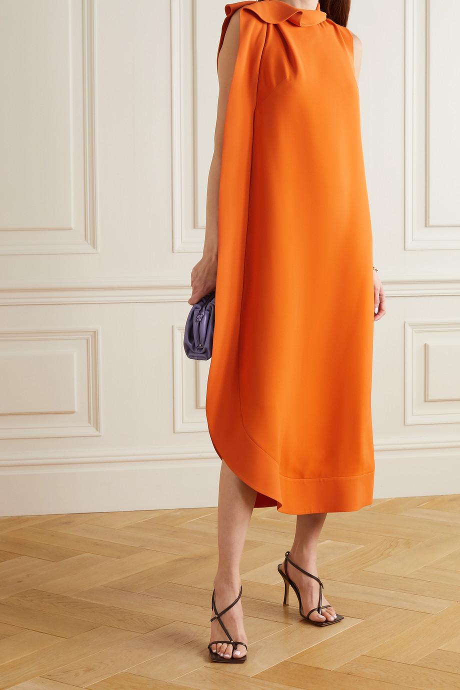 Valentino Robe midi asymétrique en soie à drapé