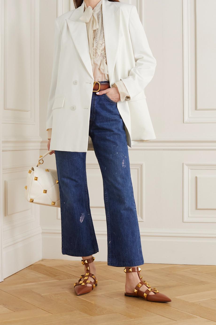 Valentino Doppelreihiger Oversized-Blazer aus Twill