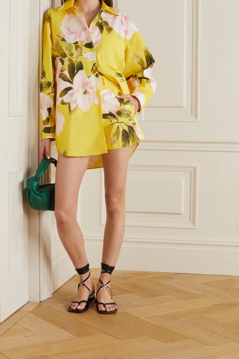 Valentino Short en coton et soie mélangés à imprimé fleuri
