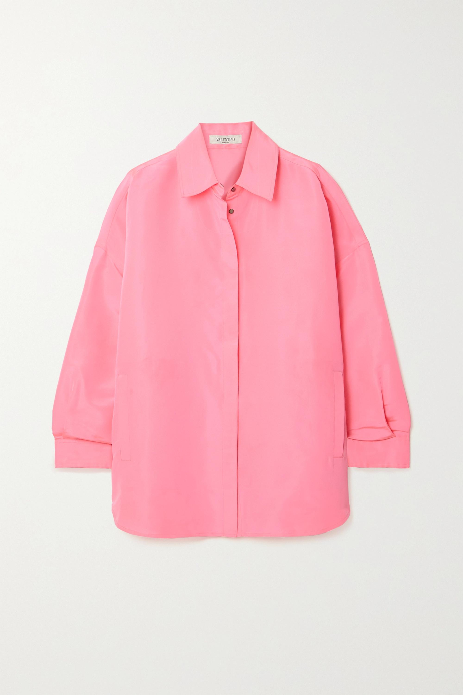 Valentino Oversized neon silk shirt