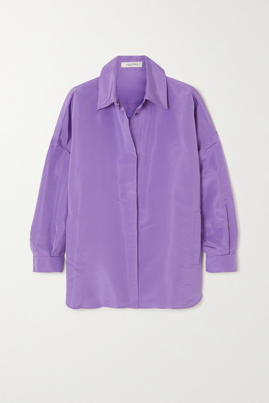 Valentino Oversized-Hemd aus Seiden-Faille