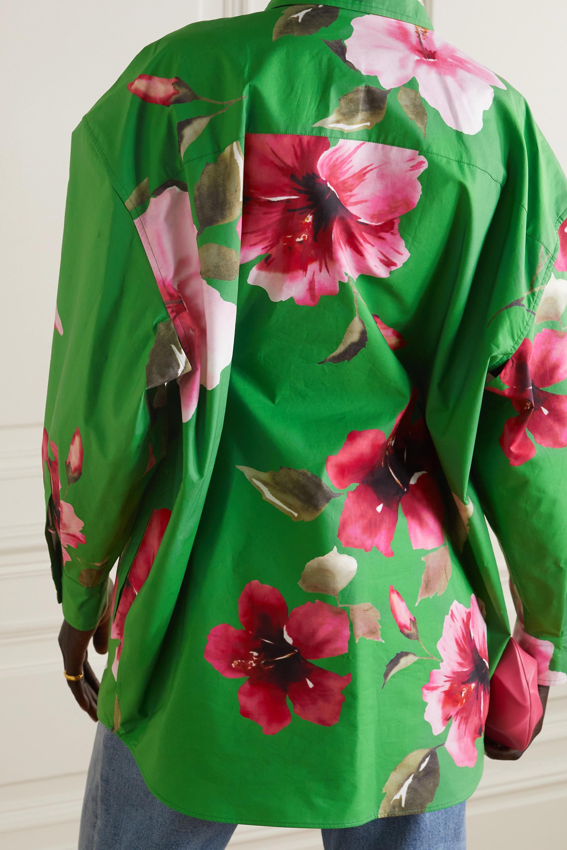 Valentino Oversized-Hemd aus Baumwollpopeline mit Bindegürtel